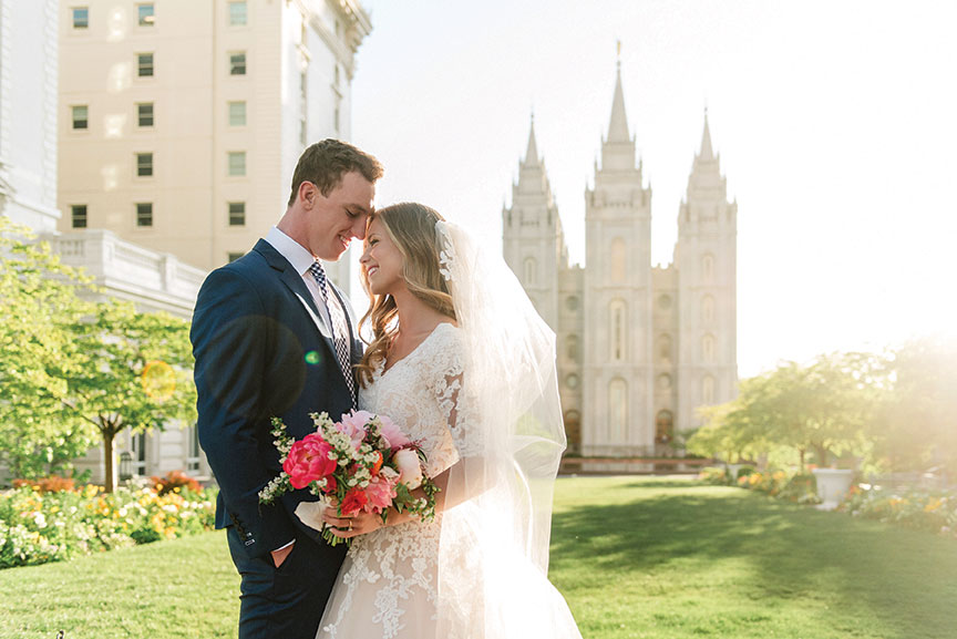 Real Weddings: Life Is Sweet At Salt Lake City LDS Temple