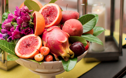 Astonishing Fresh Picked Fruit Flower Wedding Centerpieces Utah Complete Home Design Collection Barbaintelli Responsecom